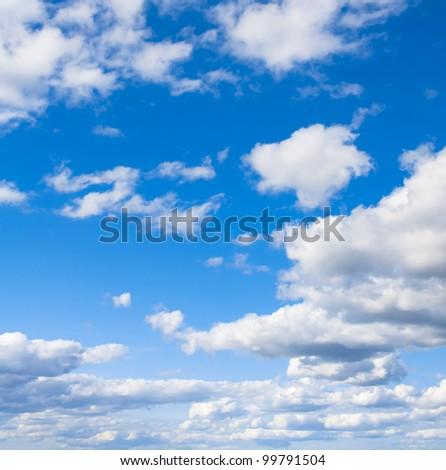 Grand Skyscape Background of Blue Divine Beauty - stock photo