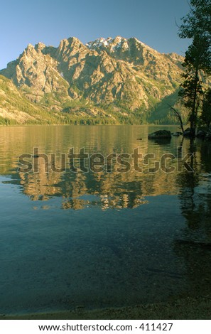 Grand Teton and Jenny Lake, Grand Teton National Park, Wyoming