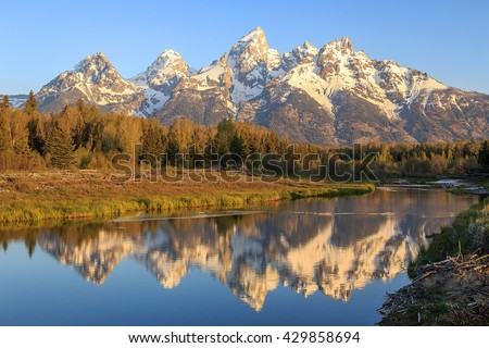Grand Teton Morning Reflection.