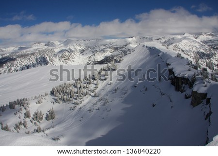 Grand Teton National Park back country - stock photo