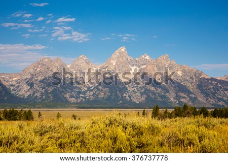 Grand Teton National Park from Moulton Barn