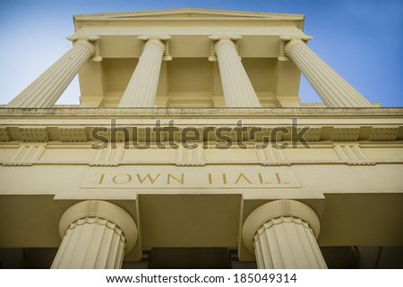 Grand town hall - stock photo
