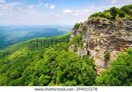 Grand View of Mount Magazine State Park - stock photo
