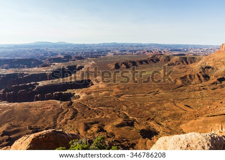 Grand View Overlook at Canyonlands National Park, USA - stock photo