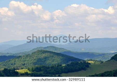 Grandfather Mountain, North Carolina in Summer Horizontal - stock photo