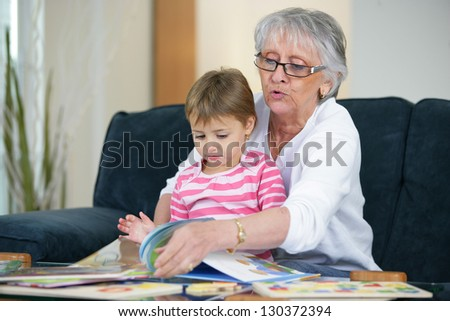 Grandmother and child - stock photo