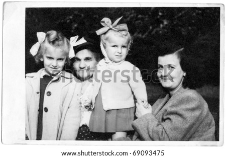 Grandmother,Mother and daughters - stock photo