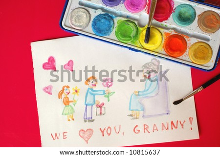 Grandmother's Day - stock photo