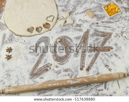grandmothers floured pastry board with 2017 subtitle