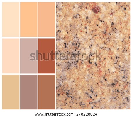 granite color chart complimentary for interior - stock photo