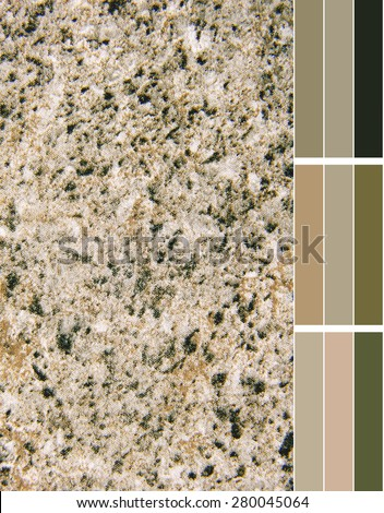granite imitation color palette with complimentary color swatches - stock photo