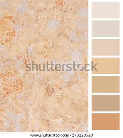 granite ivory color palette  for interior complimentary - stock photo