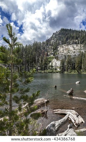 Granite Lake Hike, Lake Tahoe, California - stock photo
