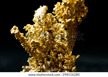 granite mixed in with wire gold acid leached - stock photo
