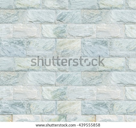 Granite rectangle brick wall texture background - stock photo