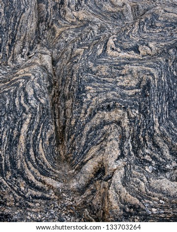 Granite rock pattern and texture in Namaqua national park