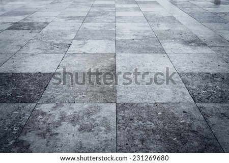 Granite square texture background with dark edges - stock photo