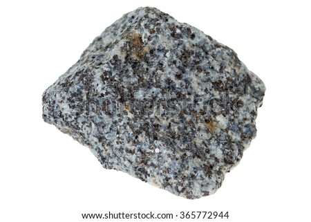 granite stone isolated over a white background / Granite Stone - stock photo