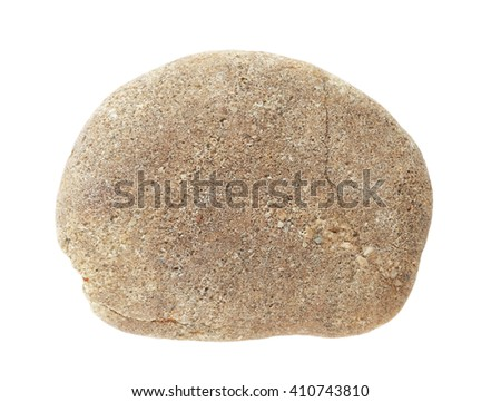 Granite stones, rock isolated on white background