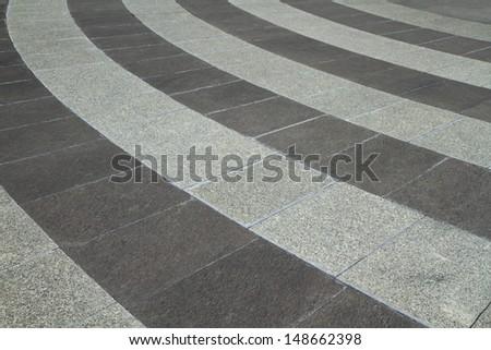 Granite tiled floor - stock photo