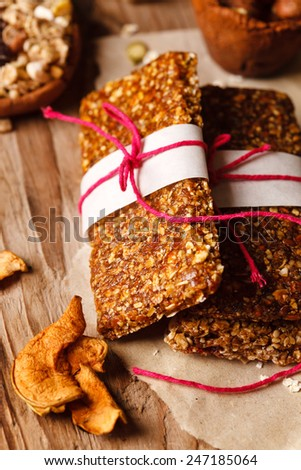 granola bar - stock photo