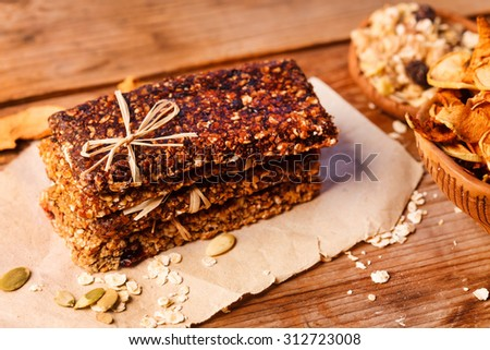granola bar - stock photo