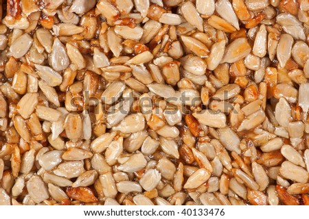 Granola bar. Close up . Isolated over white background.