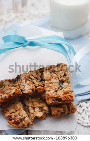 Granola bars - stock photo