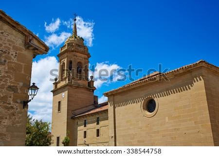 Granon church in The way of Saint James in La Rioja Logrono - stock photo