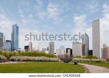 Grant Park in Chicago. - stock photo