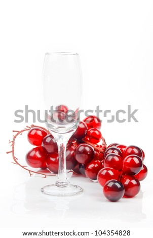 Grape and goblet - stock photo