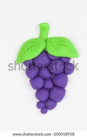 Grape from  children bright plasticine  - - stock photo