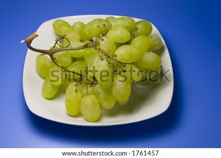 Grape on a dish - stock photo