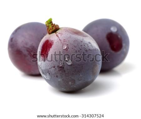 grape on white background  - stock photo