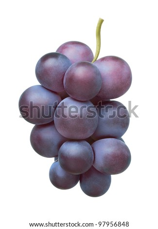 Grape on white background - stock photo