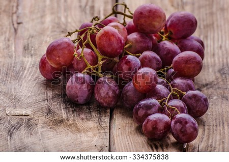 Grape red, nice and very tasty snack - stock photo