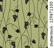 Grape seamless pattern. Raster version, vector file available in portfolio. - stock photo