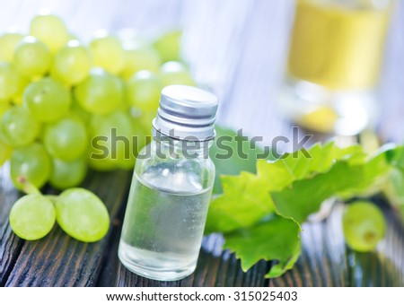 Grape seed oil in a glass jar
