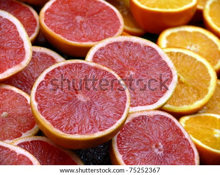 grapefruit and orange backroung