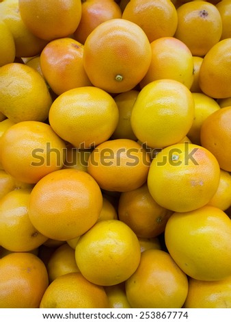 Grapefruit in a supermarket.  - stock photo