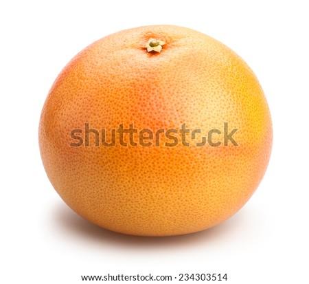 grapefruit isolated - stock photo
