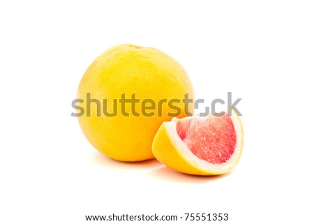 grapefruit isolated on a white background