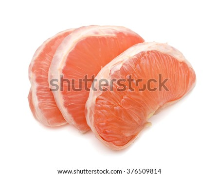 Grapefruit peel isolated white background