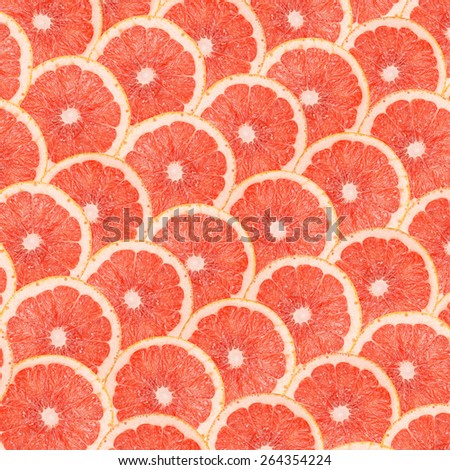 Grapefruit Slices Abstract Seamless Pattern - stock photo