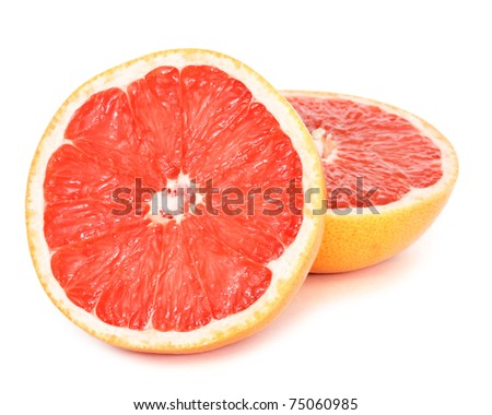 grapefruit with clipping path - stock photo