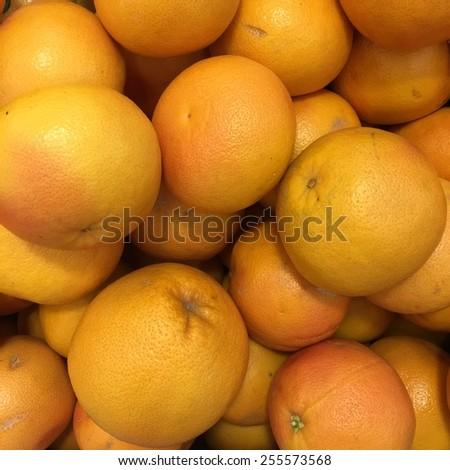 Grapefruits background - stock photo