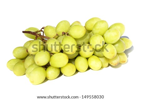 Grapes cluster isolated on the white background - stock photo