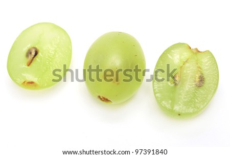 grapes in the section. close - stock photo