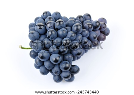 Grapes in white background
