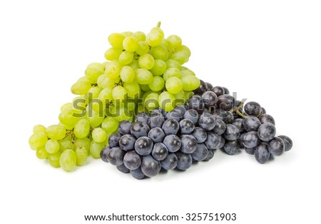 grapes  isolated on a white cutout.